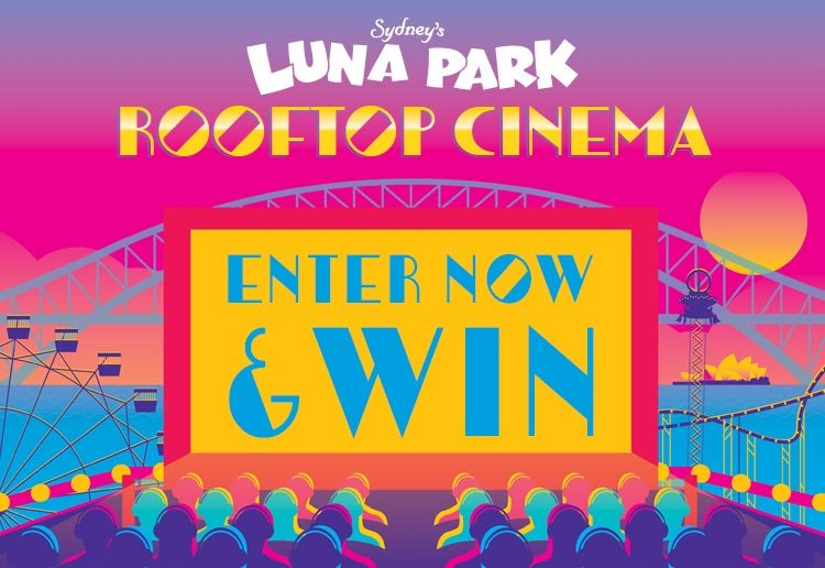 WIN 1 of 3 family passes to Luna Park Sydney's Rooftop Cinema