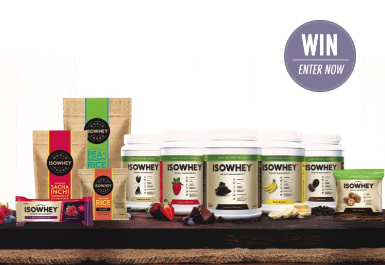 IsoWhey is giving away 5 X $100 Protein Shake Packs!