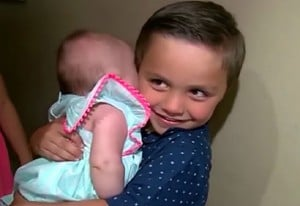 salvatore and baby sis