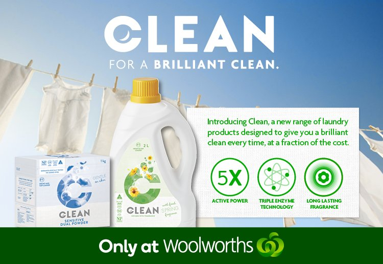 Clean Laundry Liquids and Powders