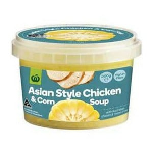woolworths soup review_asian style chicken and corn soup