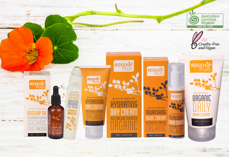 WIN 1 of 5 Australian Certified Organic Beauty Packs from RosehipPLUS®