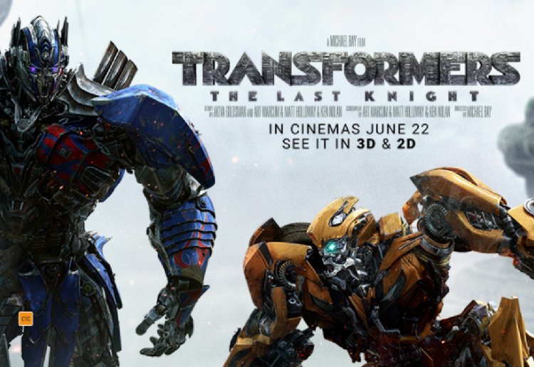 WIN 1 of 15 double passes to see Transformers: The Last Knight