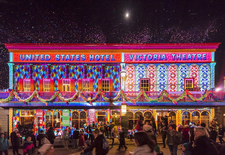 Win 1 of 4 Family Passes to Sovereign Hill's Winter Wonderlights event