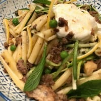 Greek Lamb and Lemon Pasta