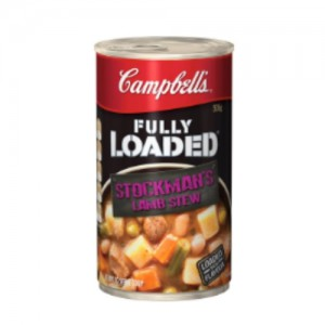 can of campbells fully loaded stockman's lamb stew 505g
