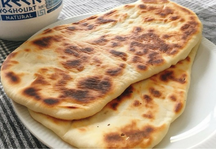 4 Ingredient Naan Bread