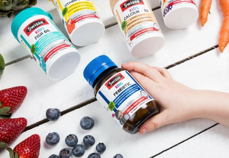 Swisse Kids Calcium + D3 and Swisse Kids Probiotic