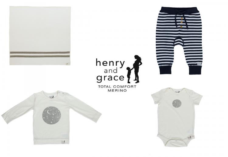 WIN 1 of 2 Spring Merino babywear bundles from Henry & Grace