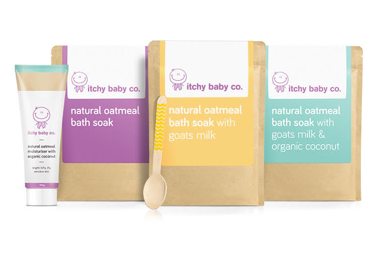 WIN 1 of 10 itchy baby co. prize bundles!