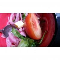 super easy salad with vinegar