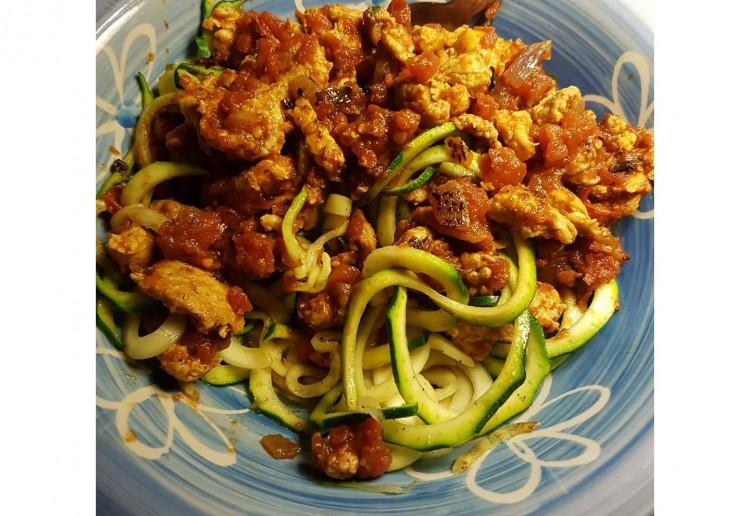 Zucchini Noodle Bolognaise