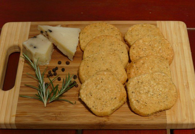 Black pepper and Parmesan Biscuits