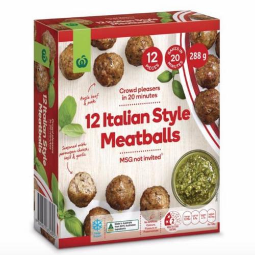 Maida reviewed Woolworths Frozen Italian Style Meatballs