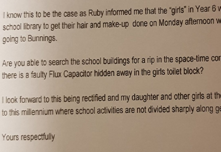 mom93821 reviewed Dad writes letter to school Principal over sexist activities