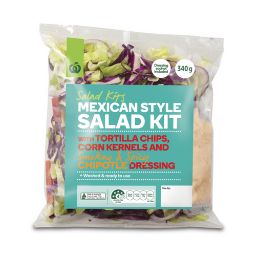 woolworths summer meats and salads product review_product shot_mexican style salad kit_500x500