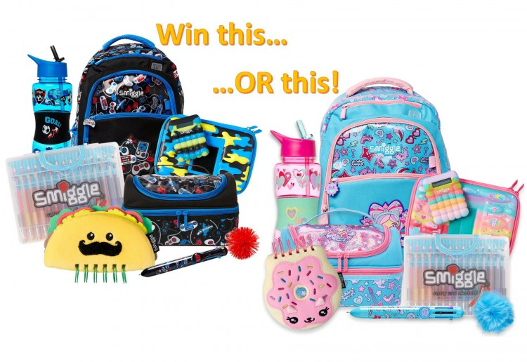 Win 1 of 2 Smiggle Squad Back to School prize packs