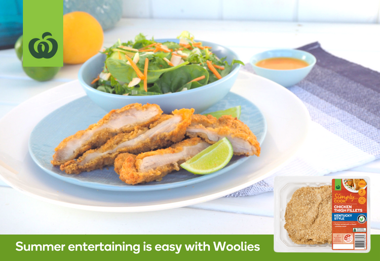 Woolworths Chicken Thigh Fillets Kentucky Style