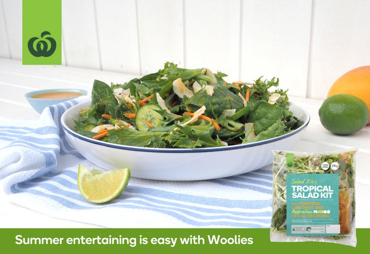 Woolworths Tropical Salad Kit