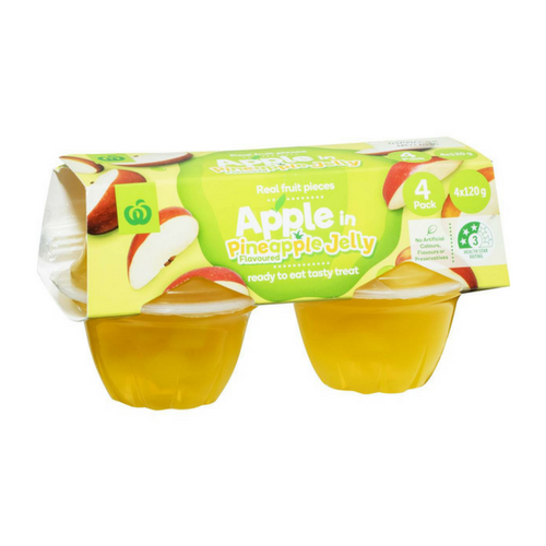 mom285503 reviewed Woolworths Apple In Pineapple Jelly 4pk 480g