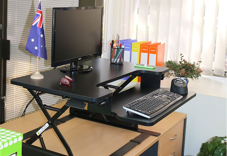 WIN 1 of 2 sit-stand workstations from the experts at Bad Backs