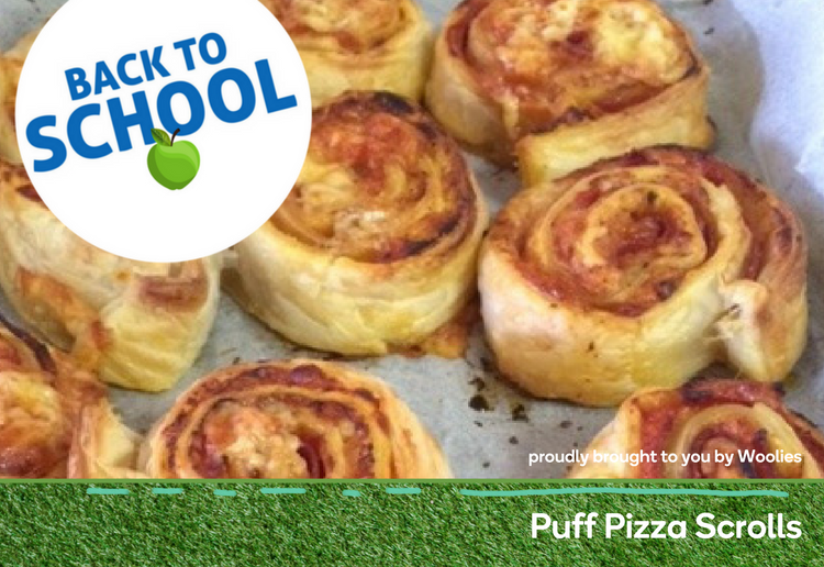 Puff pizza scrolls