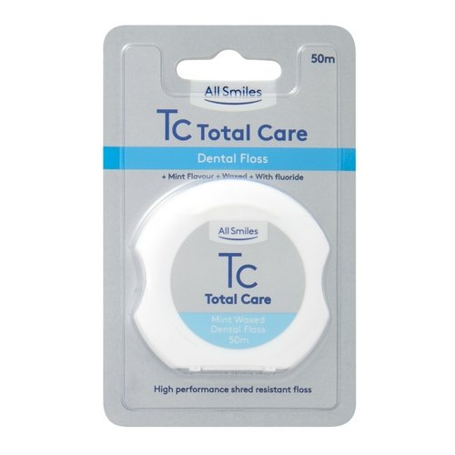 All Smiles Total Care Dental Floss 50m