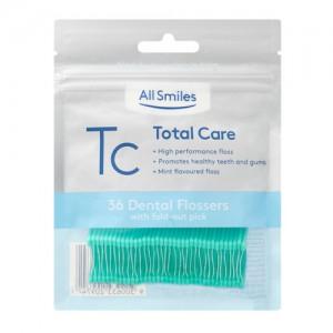 All Smiles Total Care Floss Picks Mint 36pk