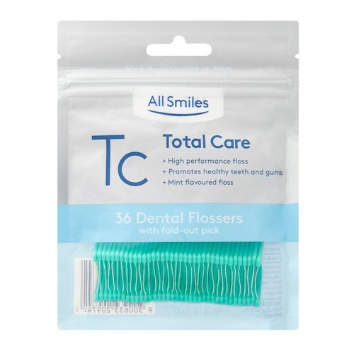 All Smiles Total Care Floss Picks Mint 36pk