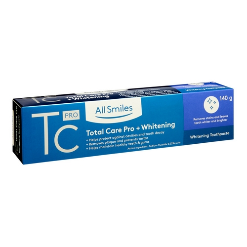 All Smiles Total Care Pro Total Care + Whitening Toothpaste 140g