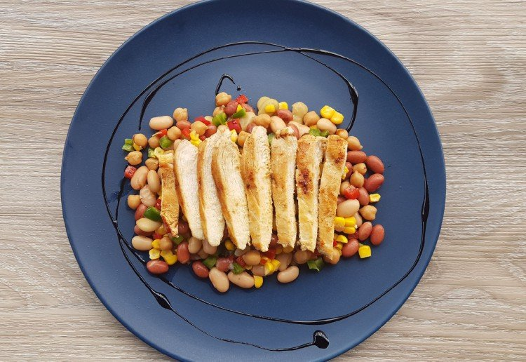 Grilled Chicken With Simple Bean Salad