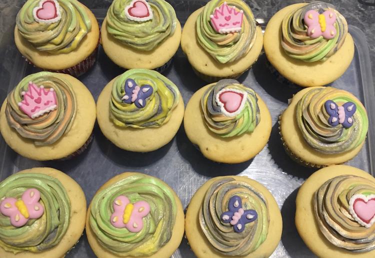 Rainbow Choc Chip Cupcakes