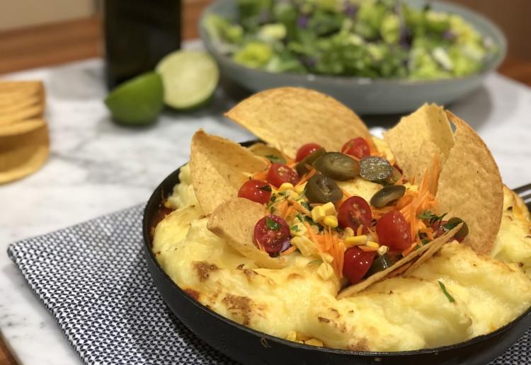 Mexican Shepherd's Pie in a Pan