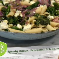 Speedy Bacon, Broccolini & Fetta Penne