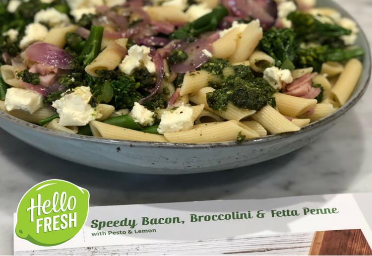 Speedy Bacon, Broccolini & Fetta Penne