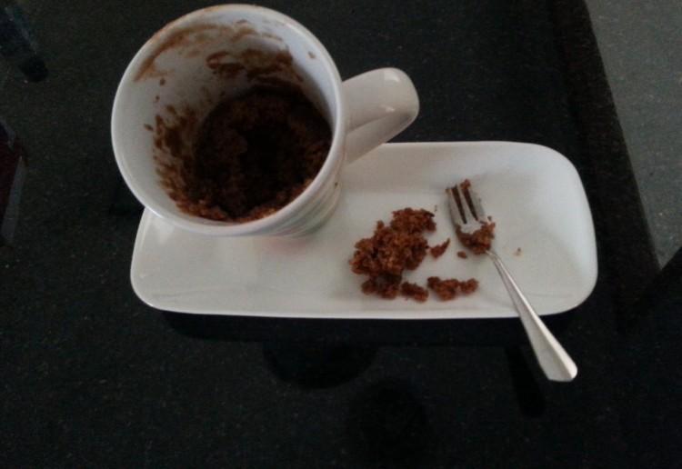 Milo Lava Mug Cake