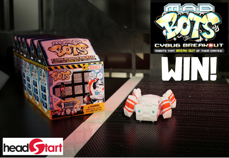 WIN 1 of 3 Mad Bots Prize Packs To See What Breaks Out Of Your Crate