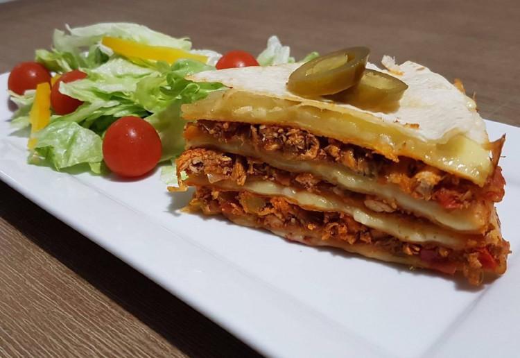 Chicken Quesadilla Lasagna