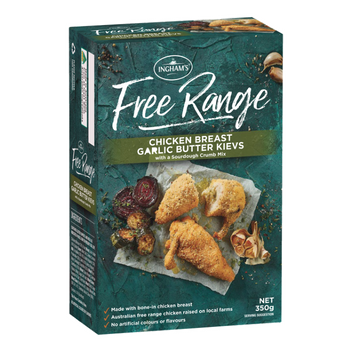 inghams free range freezer range product review_chicken breat garlic butter kievs with a sourdough crumb mix_350x350