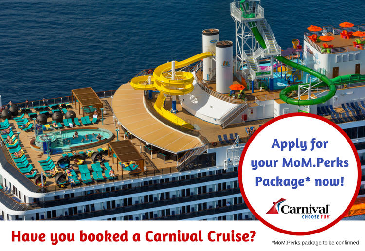 Carnival Cruise MoM.Perks Packages