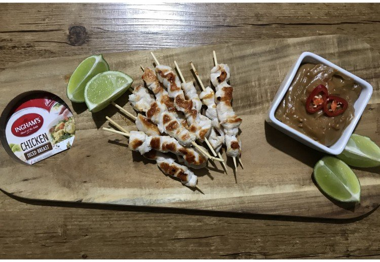 Mini Chicken Skewers with Satay Sauce