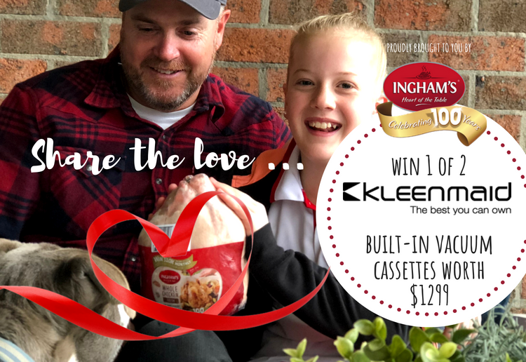 Share the Love to WIN 1 of 2 Kleenmaid Built-in Vacuum Cassettes worth $1299 each.