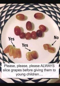 cut grapes