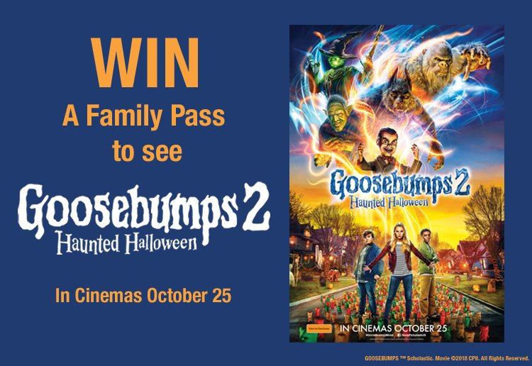 mom112292 reviewed Win a Family Pass to See 'Goosebumps 2: Haunted Halloween'