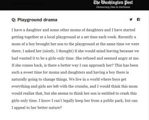 playground drama