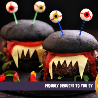 Charcoal Turkey Burger Monsters