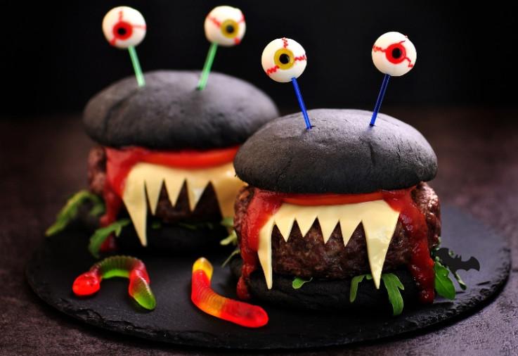 turkey-monster-burgers for halloween