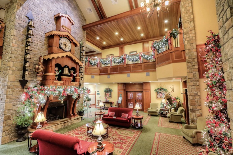 The Inn at Christmas Place is a hotel that celebrates Christmas all year round