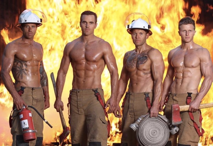 Omg This Fireman S Calendar Is Smoking Hot Mouths Of Mums