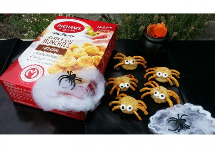 Halloween Chicken Spiders